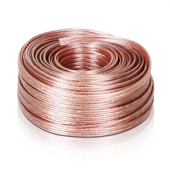 Kabel do głośników 4 x 2,5 mm², Auna, 50 m, przeźroczysty