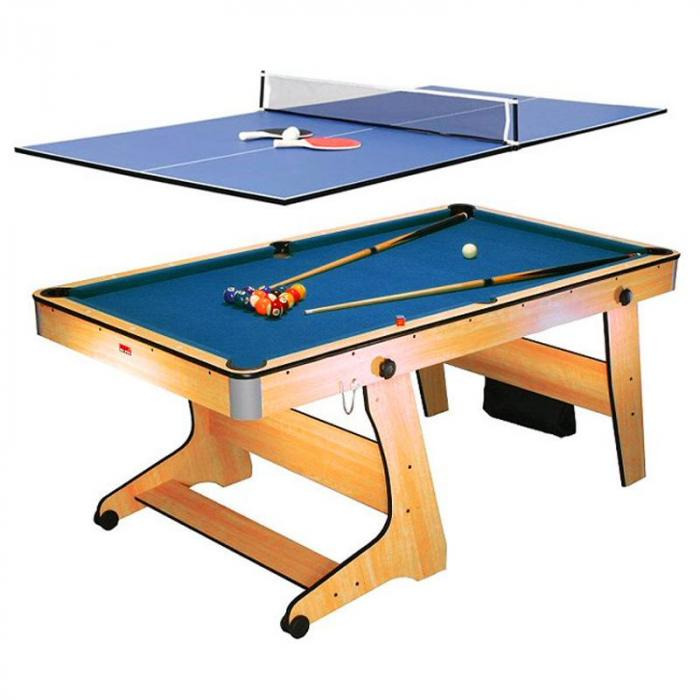 FP-6TT 2-in-1 Game Table - Pool Table Tennis Ping Pong