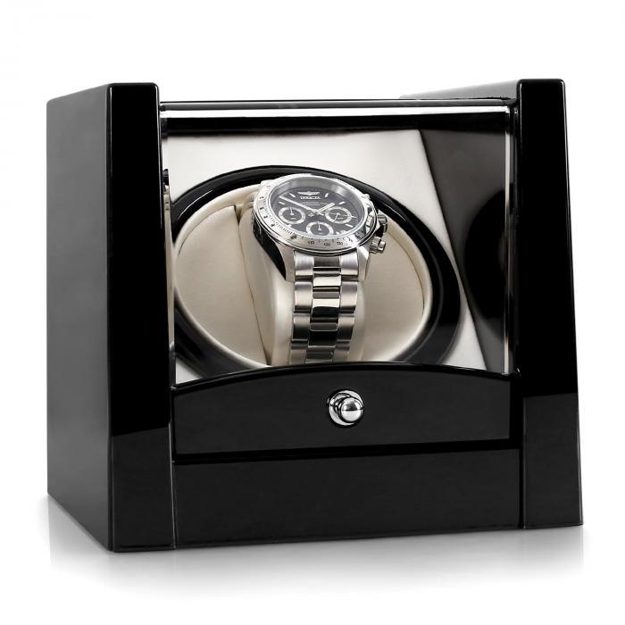 Klarstein Cannes rotomat na jeden zegarek czarny Pianolack