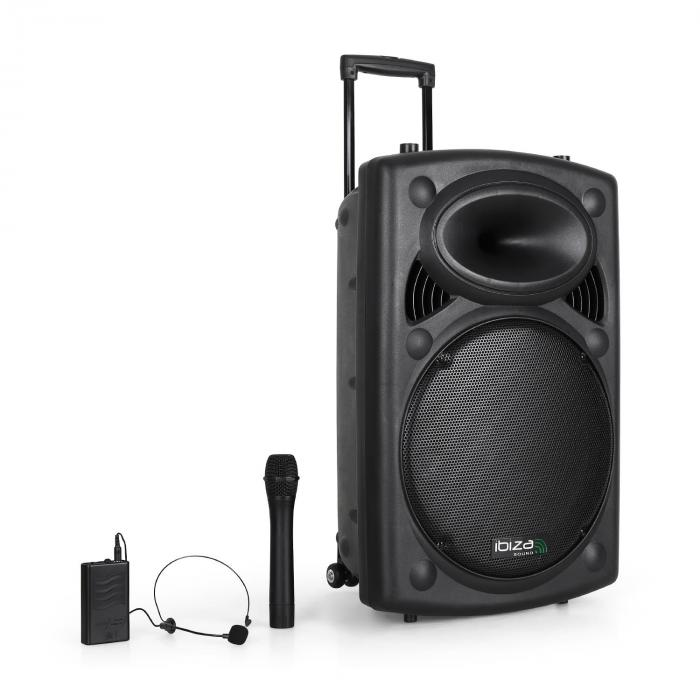 "Port15VHF-BT Portable 15"" PA System USB SD AUX MP3 Bluetooth"