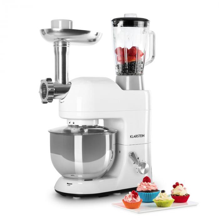Lucia Bianca Robot De Cuisine Petrin Mixeur Hachoir 1200w 5l