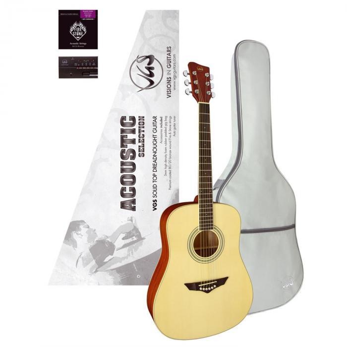 Gitara VGS Acoustic Selection Mistral Pack,stroik, pokrowiec