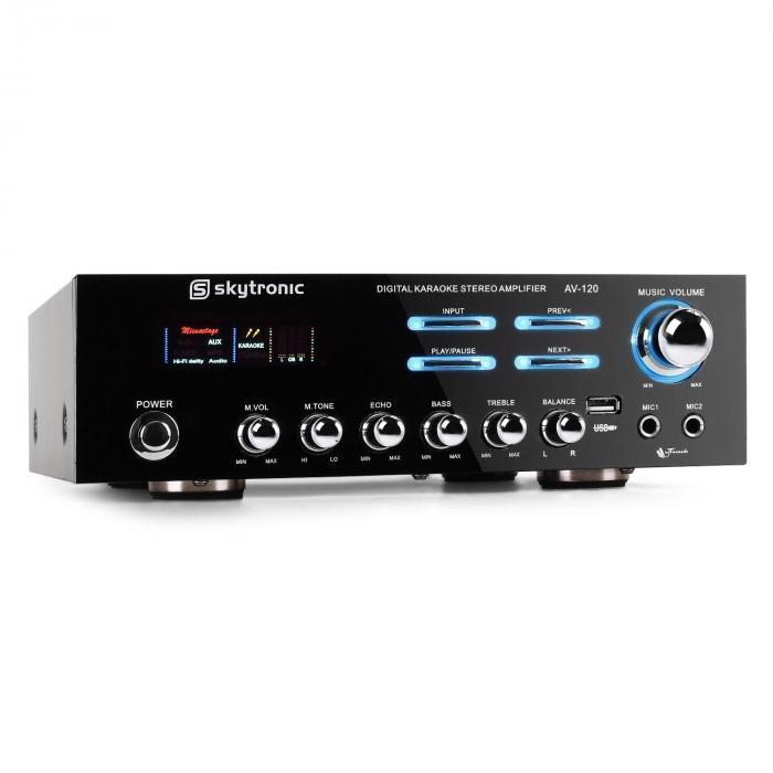 AV-120 HiFi PA-Verstärker Karaoke USB MP3