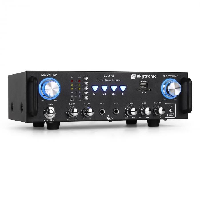 103.208 AV-100 amplificatore Hi-Fi USB SD MP3