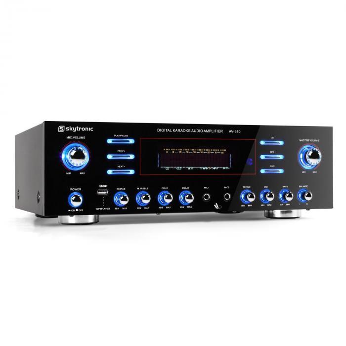 AV-340 5-Kanal PA-Verstärker Karaoke USB MP3