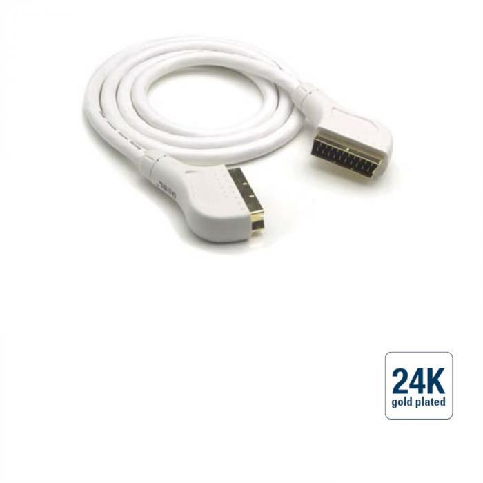 Scart-Kabel - Einzelschirmung, Gold, 3,0m