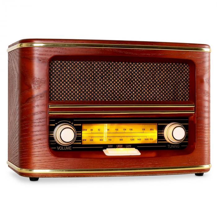 Auna Belle Epoque 1905 radio w stylu retro UKW MW