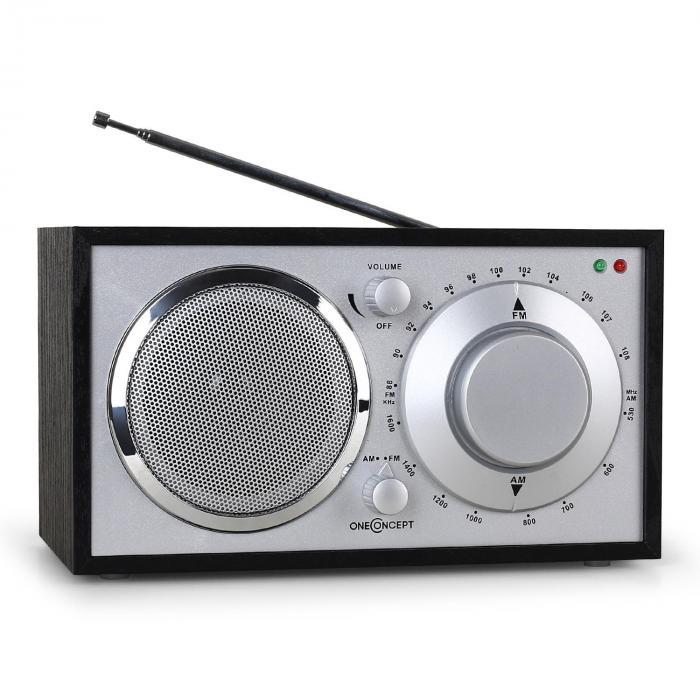 1960s retro style fm kitchen radio aux black - Kitchen Radio