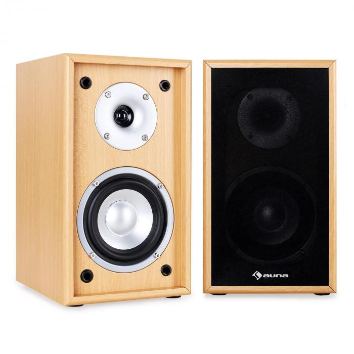 Line 300-SF-BH 2-Way Passive Bookshelf Speakers Pair 150W Beech