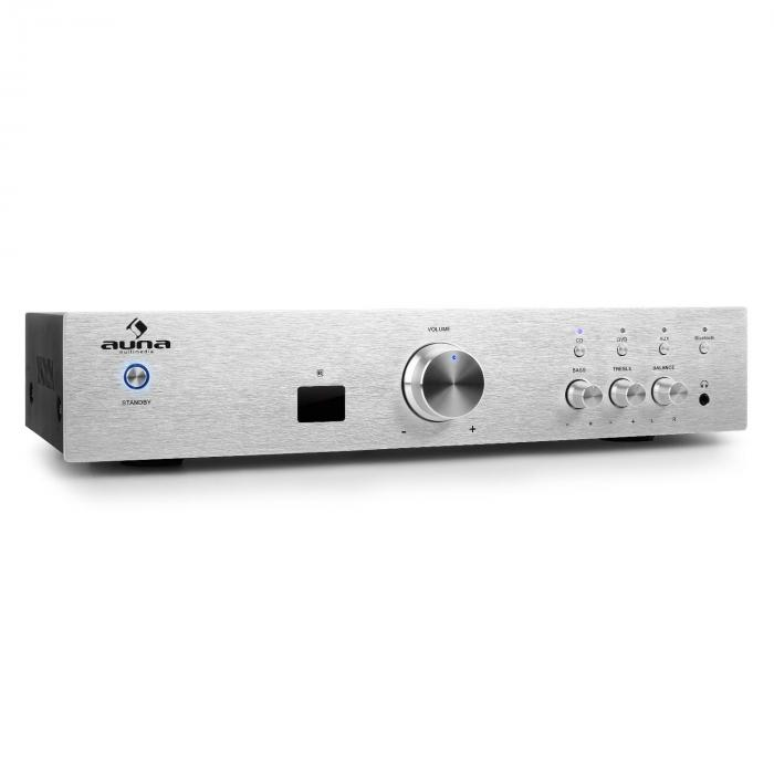 AV2-CD508BT Amplificador HiFi AUX bluetooth plateado