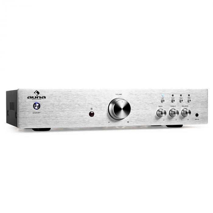 Auna AV2-CD508 Wzmacniacz HiFi Stereo 600W stal srebrny