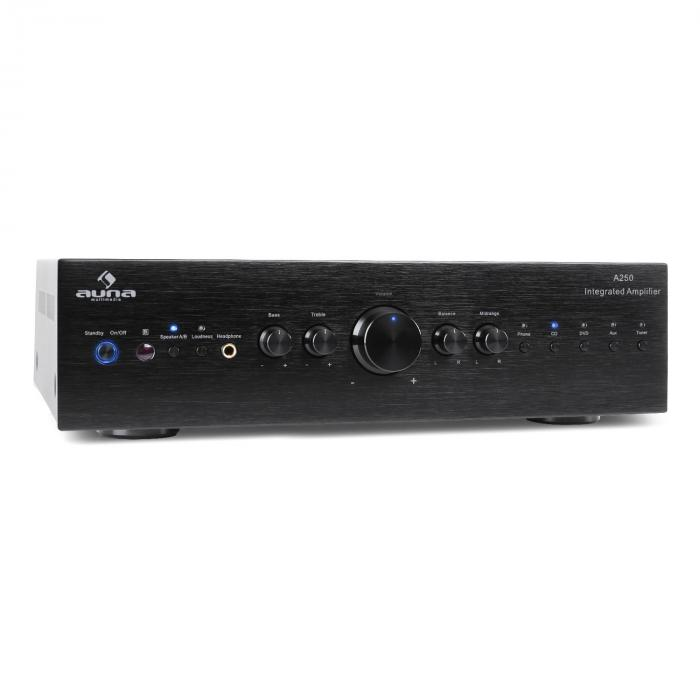 CD708 amplificatore stereo AUX Phono 600W nero