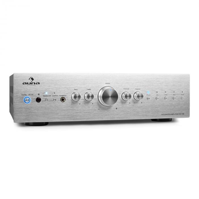 CD708 Amplificador estéreo HiFi AUX 600W plata