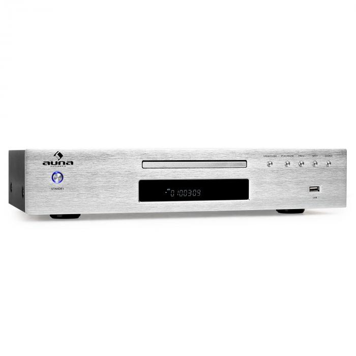 AV2-CD509 Reproductor CD Hifi Radio MP3 USB plateado