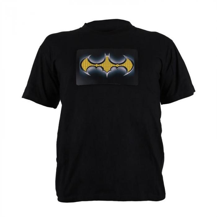 LED T-paita kaksivärinen, Batman design, koko XL