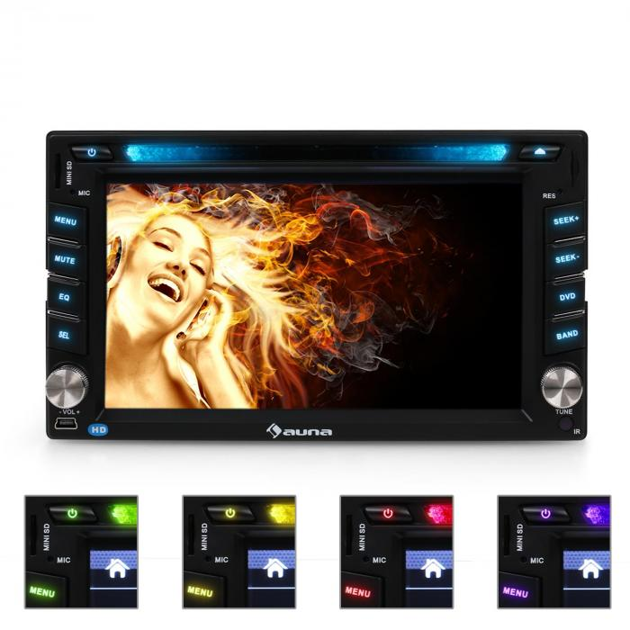 MVD-480 Autoradio multimediale Bluetooth DVD USB HD 6,2''