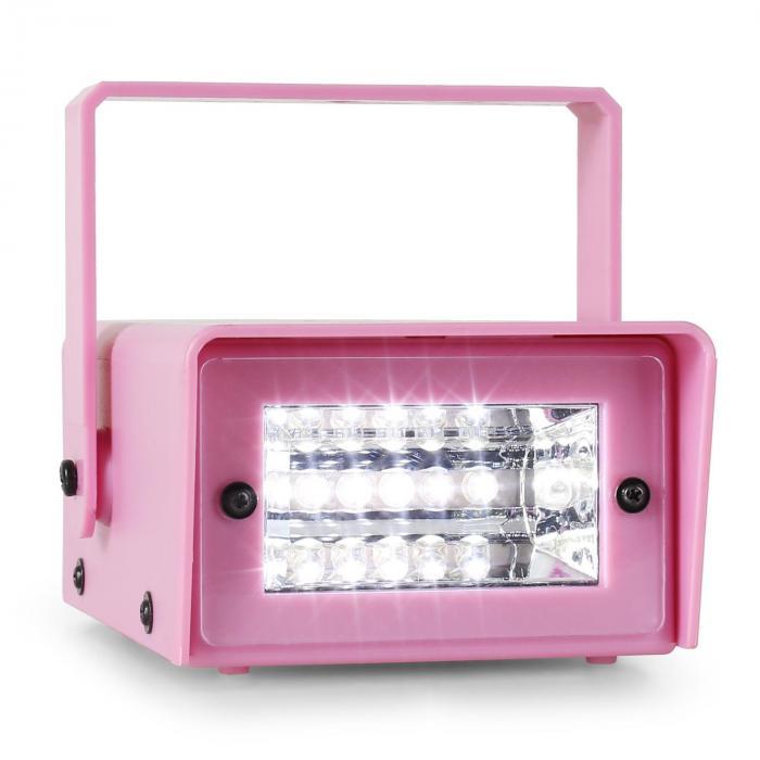 Mini Strobe Mini-LED-Stroboskop pink