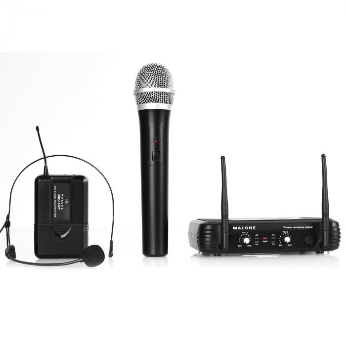 UHF 250 Duo 2-Channel Wireless Microphone Set