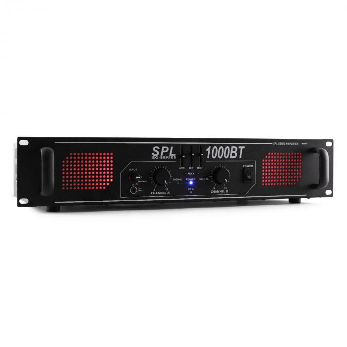 SPL 1000BT Amplificatore bluetooth AUX EQ 1000W