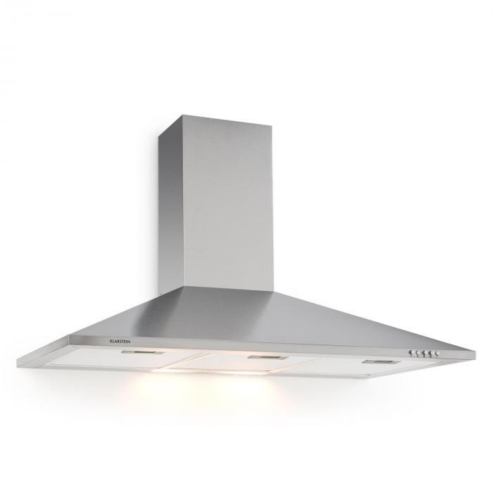 TR90WS Dunstabzugshaube Ablufthaube 3x Fettfilter LED-Kochflächenbeleuchtung Edelstahl 90 cm 340 m³/h