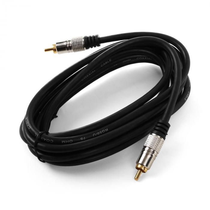 Koaxial-Kabel 3m digital Cinch 75Ohm | online kaufen | elektronik ...