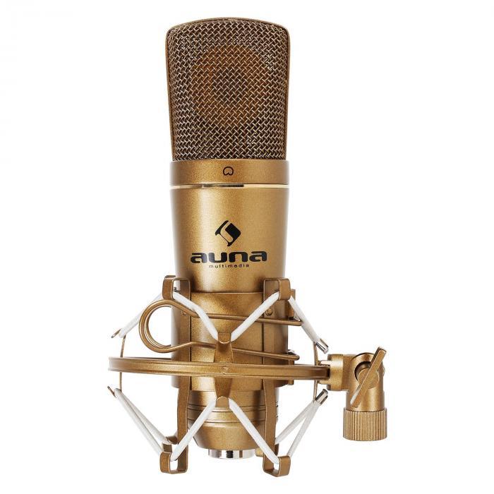 Auna CM600 studyjny mikrofon pojemnościowy USBbrązowy