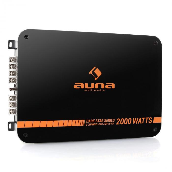 Auna Dark Star 2000 końcówka mocy do samochodu 2-kanał 200W RMS