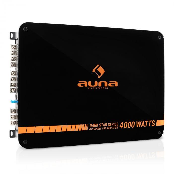 Auna Dark Star 4000 końcówka mocy do samochodu 4-kanał 400W RMS