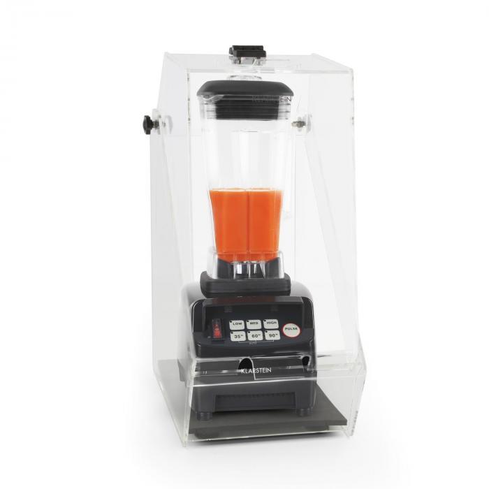 Herakles 5G Standmixer Schwarz mit Cover 1500W 2,0 PS 2 Liter BPA Frei