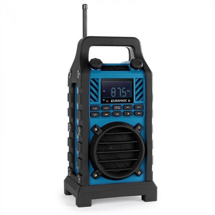 Duramaxx 862-BT-WH Radio cantiere batteria USB SD MP3 BT blu