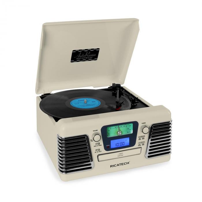 RMC100 Stereo con giradischi CD USB SD crema