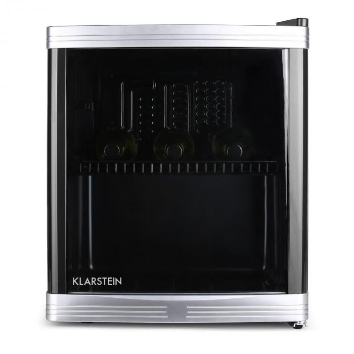 Beerlocker Mini-Kühlschrank 46 Liter 15 Flaschen Klasse B schwarz ...