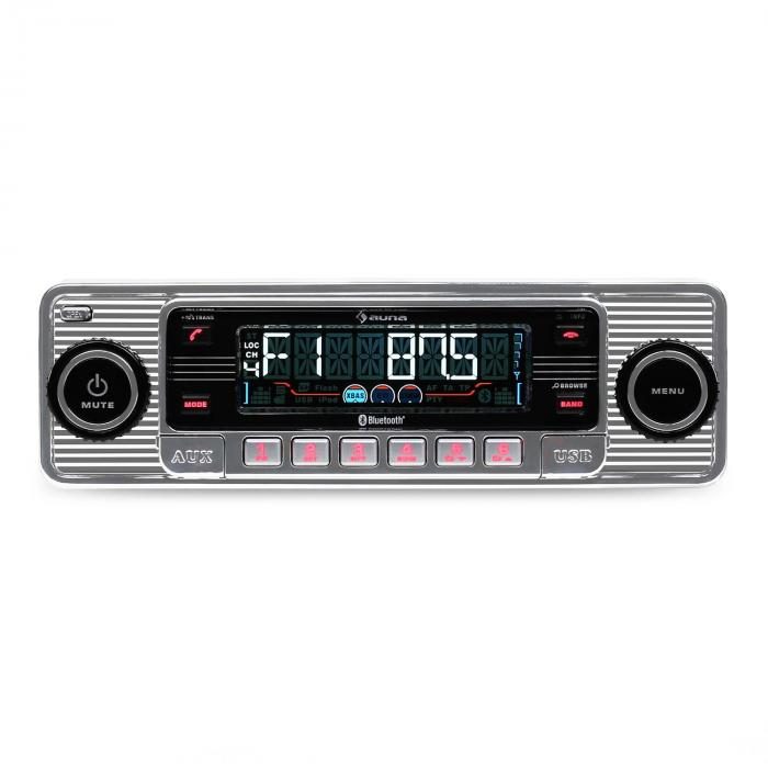 rmd sender two autoradio bluetooth usb sd mp3 cd retro silber. Black Bedroom Furniture Sets. Home Design Ideas
