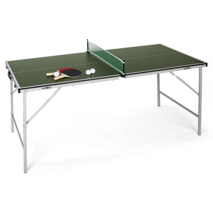 Mini table de ping pong pliable verte vert electronic - Table de ping pong pas cher decathlon ...