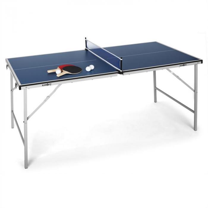 King Pong mini tavolo da ping pong ripiegabile blu