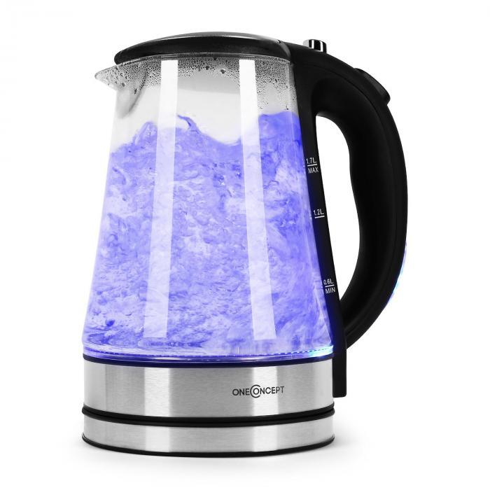 OneConcept Blue Lagoon Czajnik elektryczny LED stal szl. 1,7l czarny