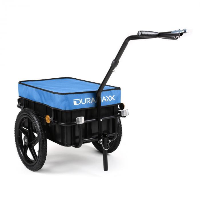 DURAMAXX Big Blue Mike Fahrradanhänger Lasten Hochdeichsel 70L blau
