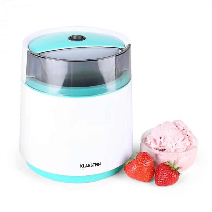 Azzurro Bacio Ice Cream Machine 0.8L White/Blue