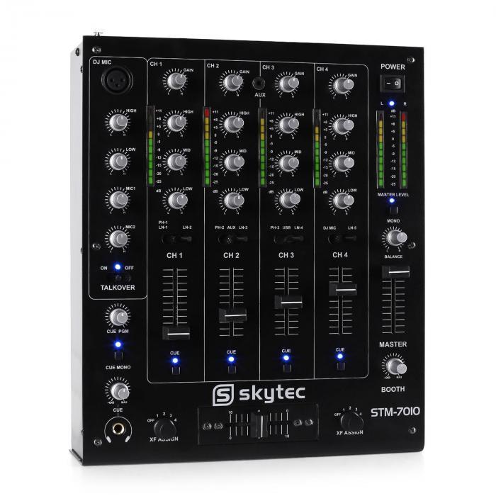 Pulpit mikserski dla DJ'ów Skytec STM-7010 4-kanałowy USB MP
