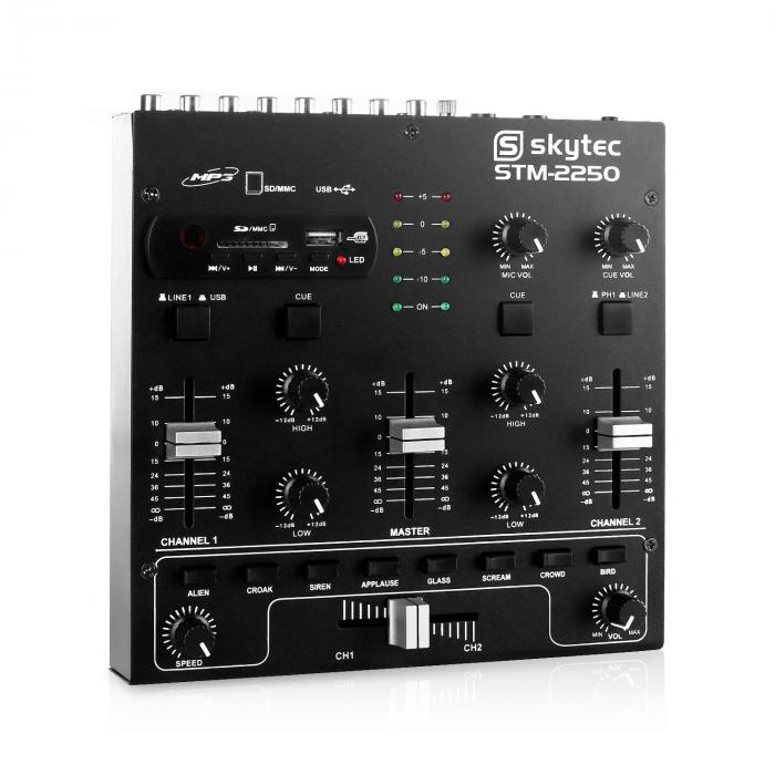 STM-2250 4-Channel Mixer USB SD MP3 FX