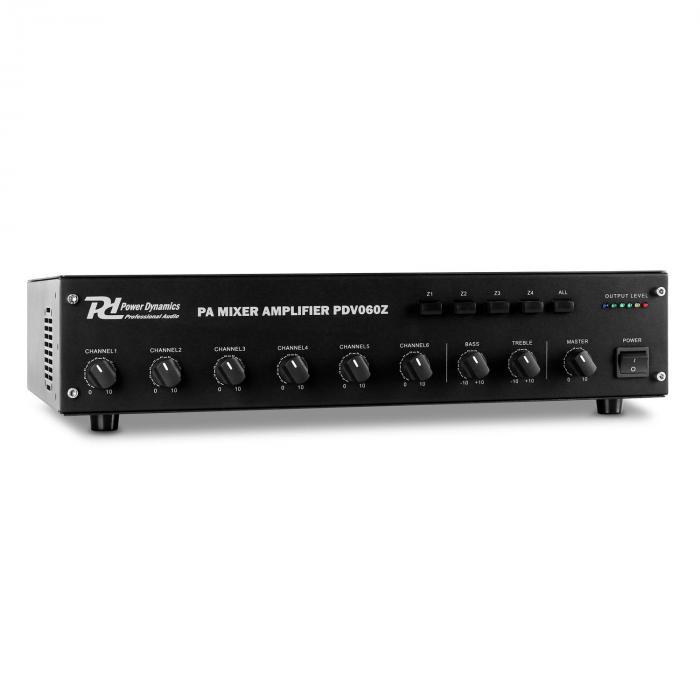 PDV60Z 6-kanava-PA-vahvistin 4 vyöh. 60W