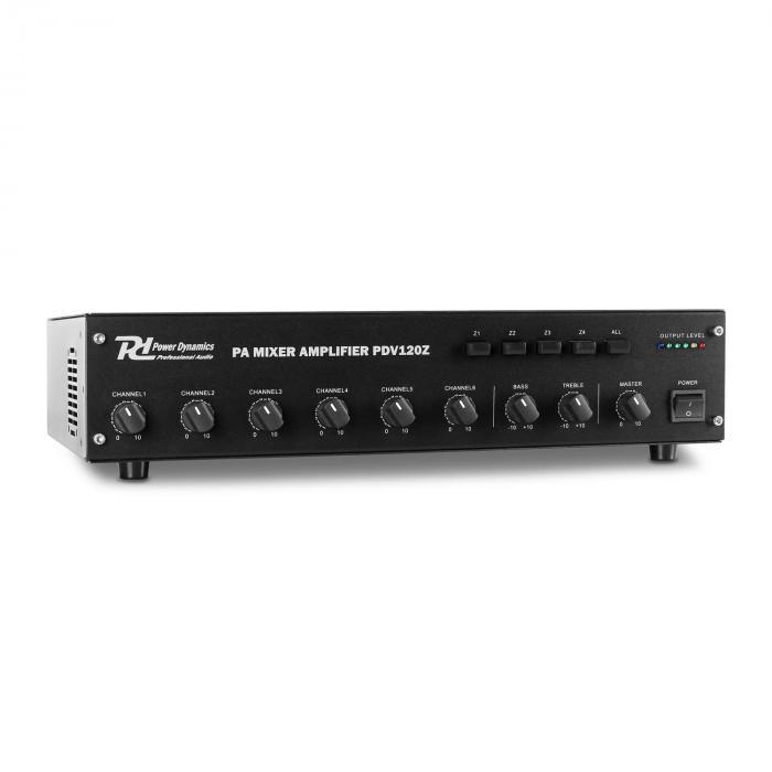 PDV120Z 6-kanaals PA versterker 4-zone 120W