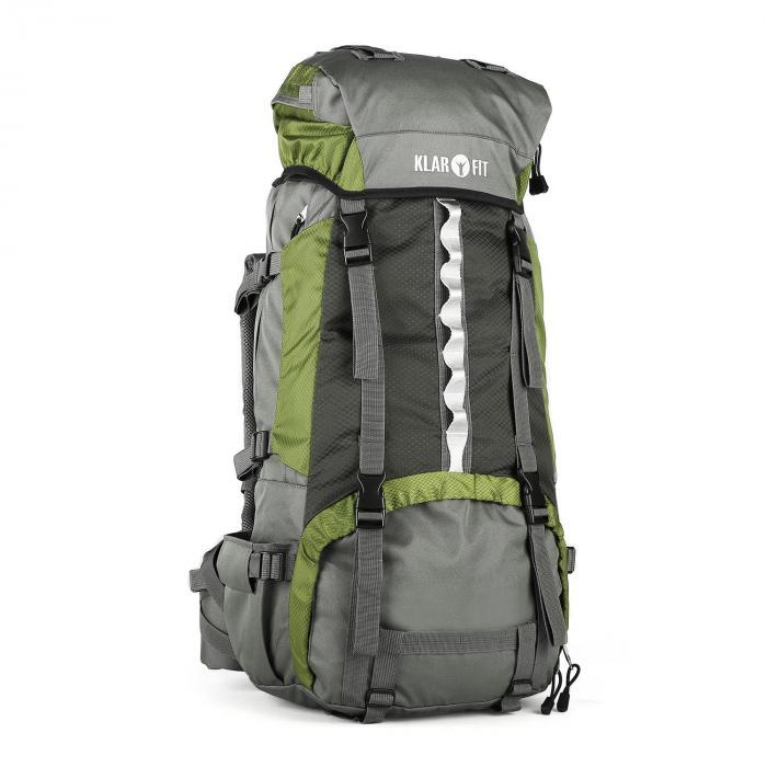 KLARFIT Heyerdahl plecak trekkingowy 70L system X-Transition ładowany od góry zielony