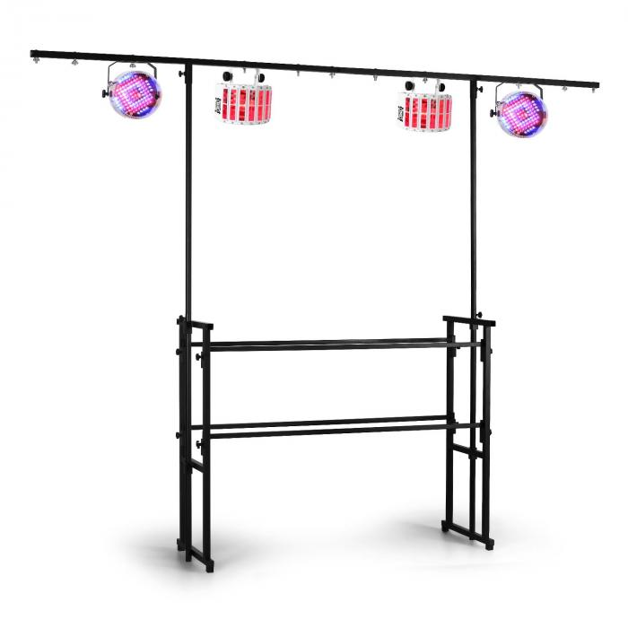 DS10 DJ Stage Light Stand T-Bar Black