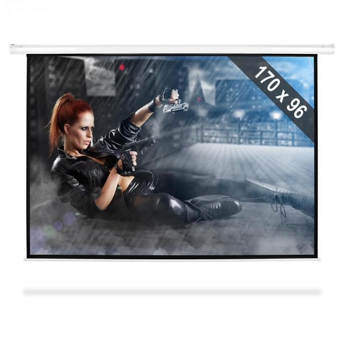 """FrontStage Moto-77169 elektryczny ekran projekcyjny rozwijany 206x115cm 77"""" 195cm 16:9"""