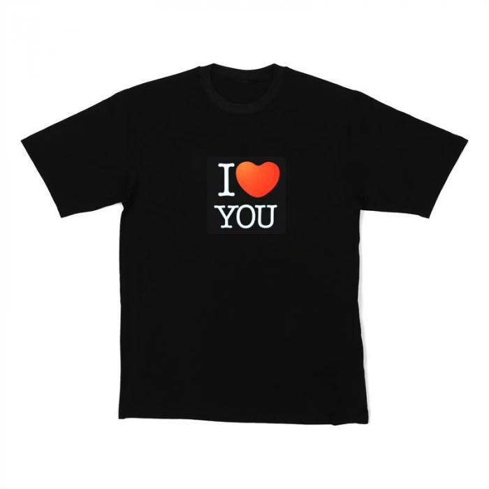 LED-Shirt I LOVE YOU Größe L