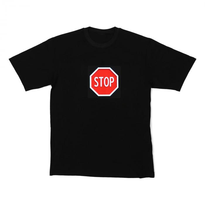 LED-Shirt STOP taglia XL