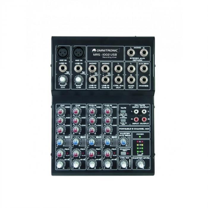 MRS-1002USB Mixer-6-canali Compatto