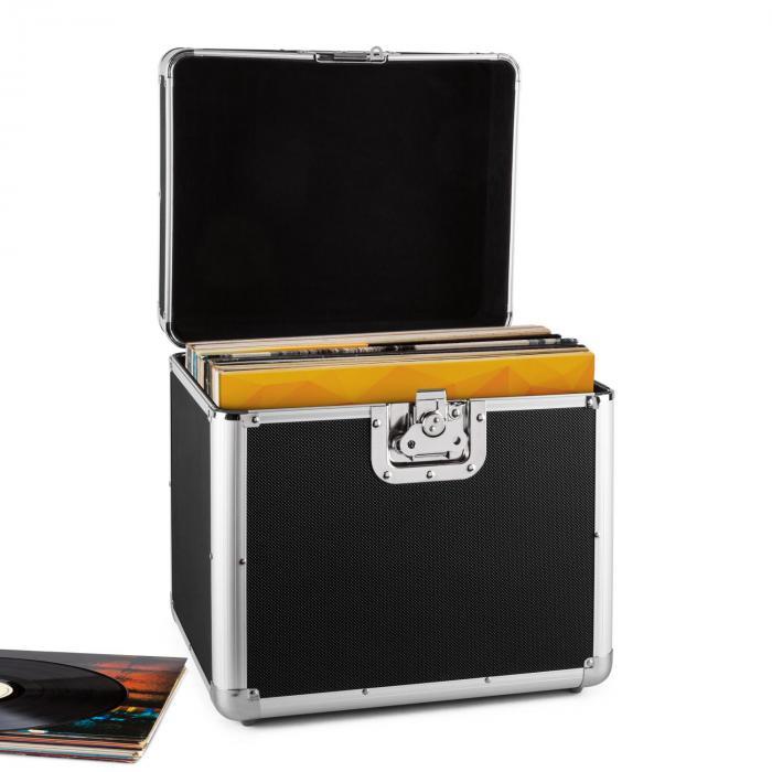 Resident DJ Zeitkapsel aluminiowy kufer na 70 LP czarny