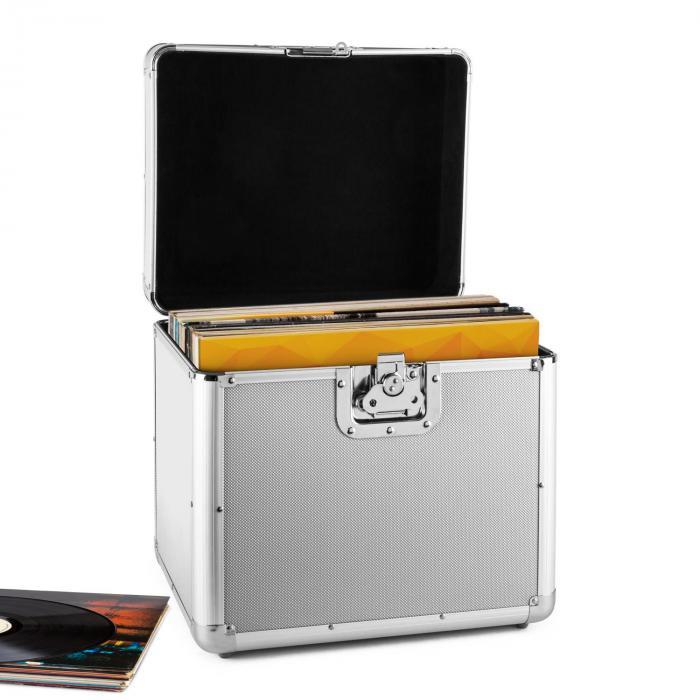 Resident DJ Zeitkapsel aluminiowy kufer na 70 LP srebrny